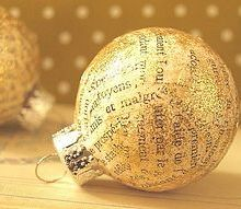 how to decoupage old christmas ornaments, christmas decorations, seasonal holiday decor, You can always add some glitter too