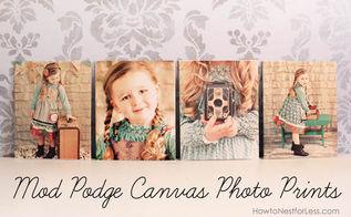 the best of 2012, home decor, Mod Podge Canvas Photo Prints