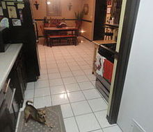 q flooring, flooring, painting, tile flooring, tiling, my kitchen and dining room with my never ending white tile