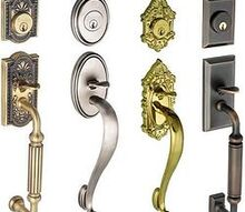 choosing the best exterior door hardware for your home, doors, Careful when replacing your hardware that you don t expose unfinished wood that was beneath the original hardware