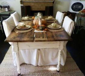 10 Yard Sale Find Antique Farm Table And Fall Tablescape, Painted  Furniture, Seasonal Holiday
