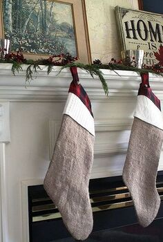 cottage inspired christmas mantle, christmas decorations, seasonal holiday decor