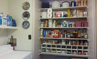 pantry makeover, cleaning tips, closet, After