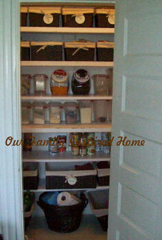 organizing the pantry, closet, organizing