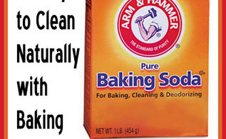 25 ways to clean naturally with baking soda, cleaning tips
