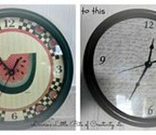 kitchen clock makeover, crafts, home decor, kitchen design, My kitchen clock makeover
