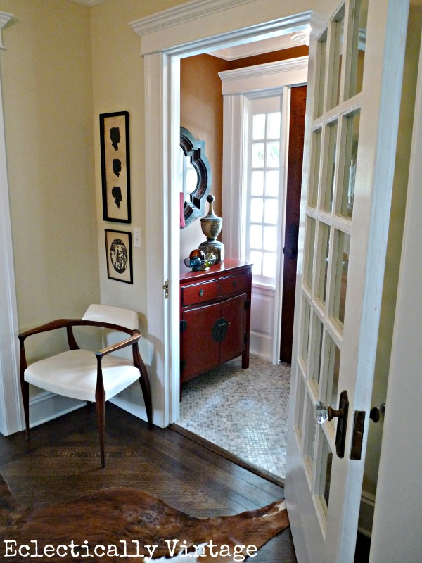 Old House Foyer : Foyer transformation in year old house reno