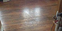 making old floors look good until you can afford new ones, dining room ideas, diy, flooring, hardwood floors, home maintenance repairs