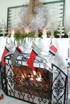 this old crib spring gets 2 new lives from a place to hang your christmas wreath to, christmas decorations, repurposing upcycling, seasonal holiday decor, wreaths, Vintage crib spring is the perfect place to hang a wreath