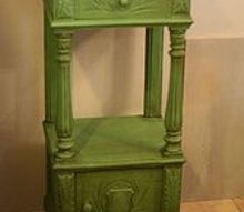 antiquing with dark wax, painted furniture
