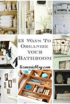 13 ways to organized your bathroom, bathroom ideas, organizing, storage ideas, 13 tips and tricks on how to organize your bathroom