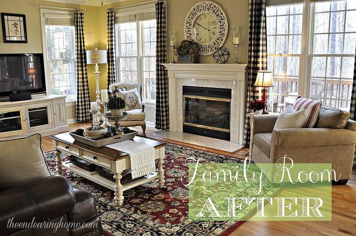 Family Room Reveal Making What You Have Work Hometalk