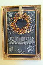 autumn chalk art, crafts, seasonal holiday decor
