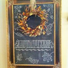 autumn chalk art, crafts, seasonal holiday decor