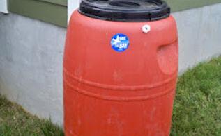 diy rain barrels, go green