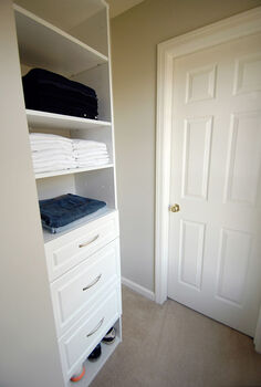his master closet re do in progress, closet, storage ideas