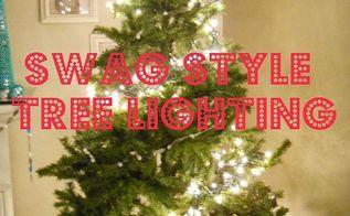 a new way to hang your christmas tree lights, christmas decorations, lighting, seasonal holiday decor, Swag style lighting