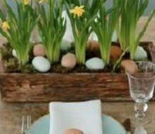 easter table setting, easter decorations, seasonal holiday d cor