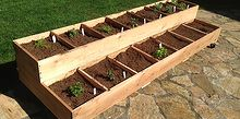 stacked herb bed, diy, gardening, woodworking projects, Pacific NW organic herb bed on wheels