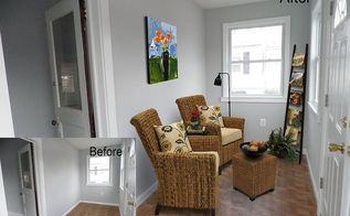 virtual staging before amp after photo of the week, real estate, The entrance to this quant little beach house Virtual staging warmed up the space instantly