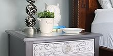 thrift store side table goes glam, bedroom ideas, home decor, painted furniture