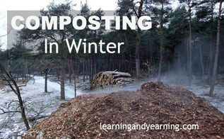 composting in winter, composting, go green, A large compost heap will help to generate heat A working compost pile has four basic needs air water carbon and nitrogen