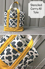 how to transform a tote bag using stencils, crafts, Zamira Stenciled Tote by Just Another Day in Paradise