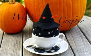 diy witch pin cushion, crafts, seasonal holiday decor, DIY tea cup pin cushion by Sew Sweet Vintage will add magic to your sewing table