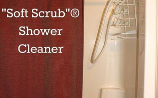 homemade shower cleaner like soft scrub, bathroom ideas, cleaning tips, This DIY Shower Cleaner is good for the environment and good for your health Clean up your home and the environment at the same time Plus it saves money too