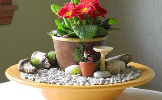 fast easy indoor miniature garden ideas for the black thumb, crafts, gardening, home decor, Turn a cache pot and a bowl into something green and growing