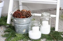 rustic winter porch, curb appeal, porches, seasonal holiday decor, wreaths