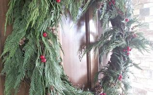 tutorial diy fresh greenery wreath, christmas decorations, crafts, seasonal holiday decor, wreaths, Make this wreath for your front door this year