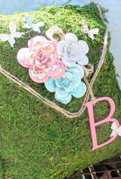 no sew moss pillow, crafts, outdoor living, No Sew Moss pillow with a pink monogram
