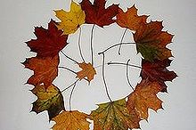 waxing leaves, crafts, seasonal holiday decor