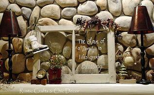 a vintage christmas mantel, christmas decorations, fireplaces mantels, repurposing upcycling, seasonal holiday decor, windows