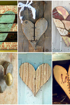 valentine hearts reclaimed wood, seasonal holiday d cor, valentines day ideas, reclaimed and scrap wood hearts for Valentine s Day inspiration