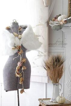 vintage romantic autumn decor, seasonal holiday decor