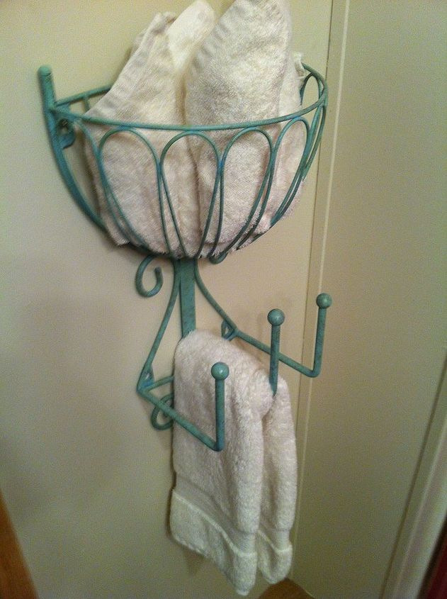 recycled hose holder to towel rack for my small bathroom hometalk. Black Bedroom Furniture Sets. Home Design Ideas