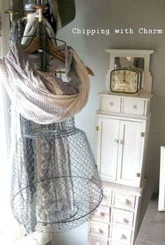 upcycled repurposing a fish basket into a funky mannequin, home decor, repurposing upcycling