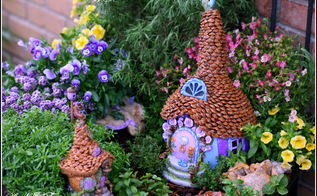 anything blue friday features, crafts, gardening, home decor, A whimsical fairy garden