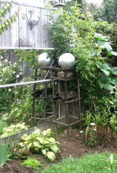 gallery of garden ball ideas, crafts, decoupage, gardening, My first garden ball spray paint on a lamp globe