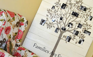 stencil some wood wall art pieces, crafts, Family Tree made with Cutting Edge Stencils Large Fruit Tree