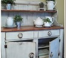 early 20th century hutch revived, painted furniture, Thrift store find for 12 gets a major lift