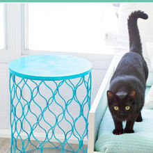 four unique side tables, home decor, painted furniture, Wastebasket Hold onto your hats this may be the easiest DIY project ever Take a nice looking clean wastebasket Then flip it over Done