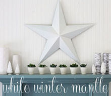 winter white mantle, home decor