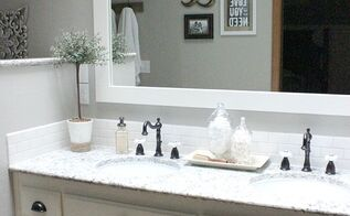 diy farmhouse master bathroom makeover, bathroom ideas, diy, home decor, home improvement