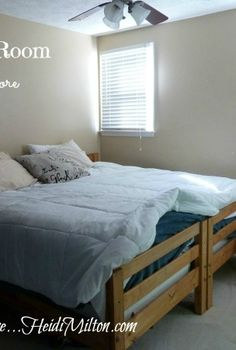 guest room reveal everything but the drapes, bedroom ideas, home decor, Before