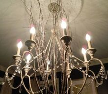 winter branches chandelier for the holidays or season, crafts, home decor
