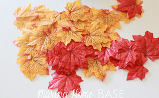 fall garland in 5 minutes, crafts, seasonal holiday decor, Pack of leaves from the Dollar Tree