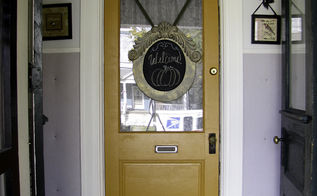 mirro to chalkboard welcome sign, chalkboard paint, crafts, doors